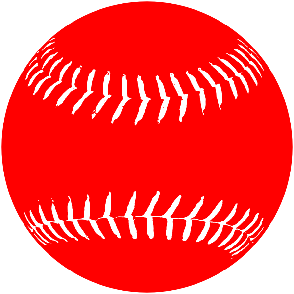 Red white softball clip art at clkercom vector clip art online royalty free public domain for Softball vector free
