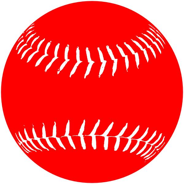 Red White Softball Clip Art At Clker Com Vector Clip Art