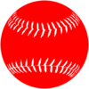 Red White Softball Clip Art