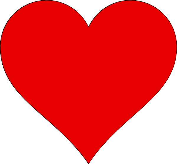 Heart Outline Clip Art at Clker.com - vector clip art online, royalty ...