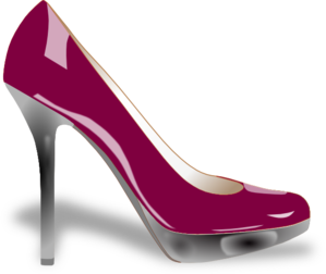 Purple High Heel Clip Art