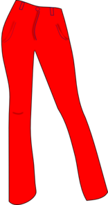 Women Trousers Red Clip Art