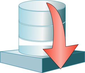 Database Down Icon Clip Art
