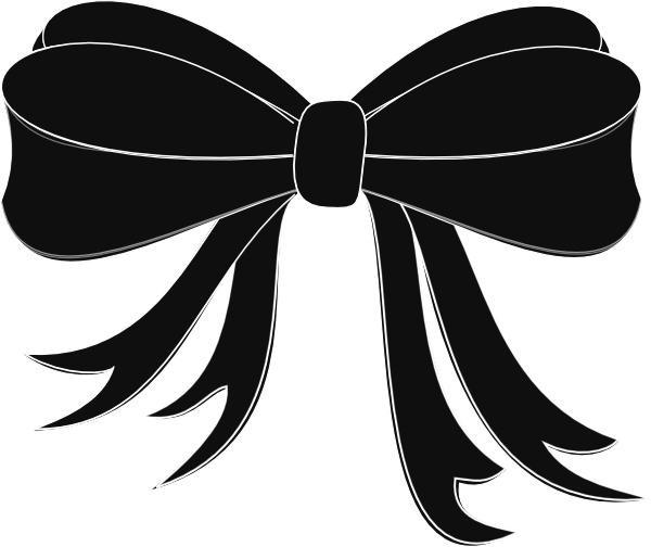 Black Ribbon Bow Black Bow Ribbon Clip ...