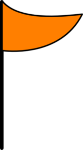 Orange Flag Clip Art