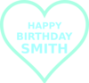 Smith Bday11 Clip Art