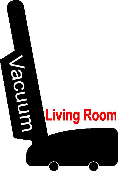 Chore Vacuum Living Room Parlor Clip Art At Clkercom Vector Clip