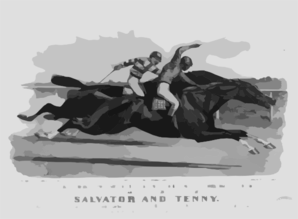 The Finish In The Great Match Race [...] At Sheepshead Bay, N.y., June 25th, 1890 Between Salvator And Tenny  / L.m. Clip Art