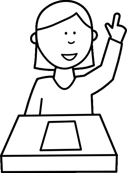 Student Asking A Question clip art - vector clip art online ...