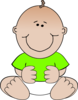 Green Baby Sitting Clip Art