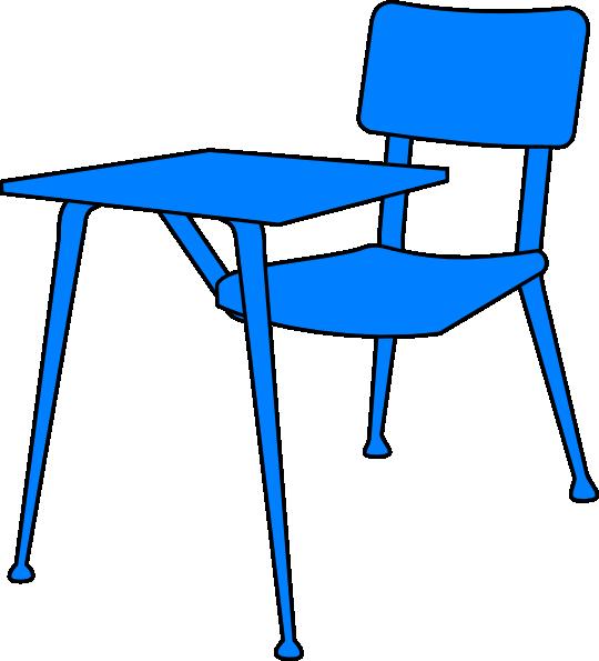 Blue Desk Clip Art at Clkercom vector clip art online royalty