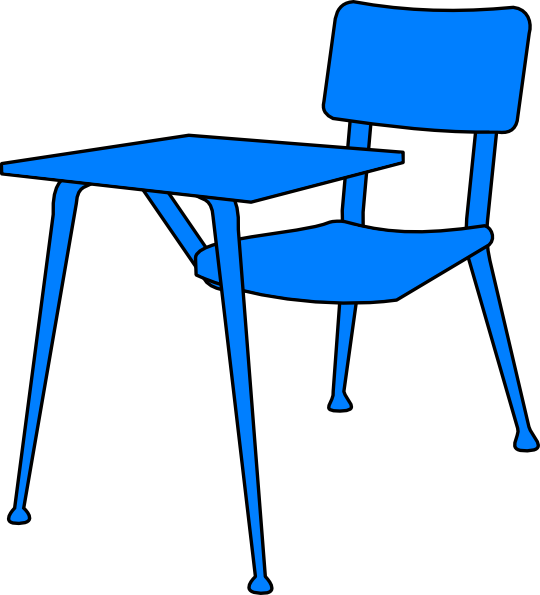 blue desk clip art at clker com vector clip art online royalty rh clker com Desk Bell Clip Art school desk clipart black and white