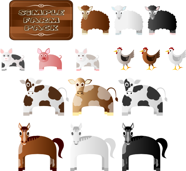 clipart pictures farm animals - photo #40
