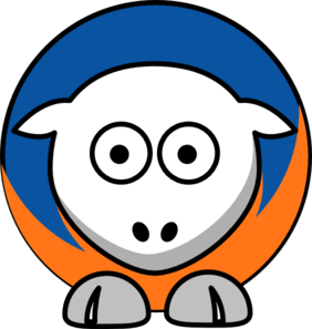 Sheep New York Knicks Team Colors Clip Art