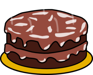 Chocolate And Chocolate Cake Clip Art