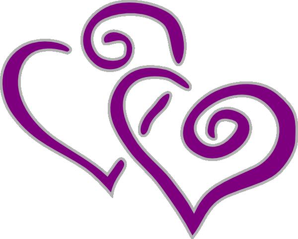 Heart Purple And Silver Clip Art at Clker.com - vector clip art ...