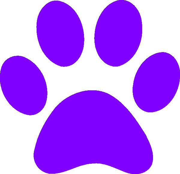 Light Purple Paw Print Clip Art at Clker.com - vector clip art online ...