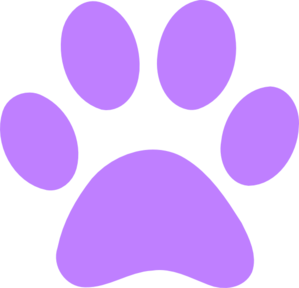 Light Purple Paw Print Clip Art