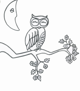 Owl Sleeping Clip Art