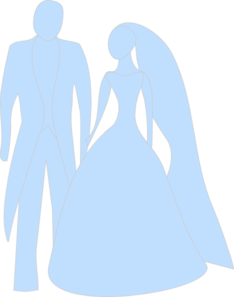 Blue Bride And Groom Clip Art