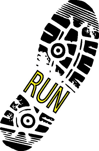 run shoe print clip art at clker com vector clip art online rh clker com sports shoes clipart sports shoes clipart
