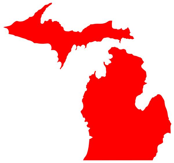 Michigan Map Outline Clip Art at Clkercom vector clip art