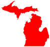 Michigan Map Outline Clip Art