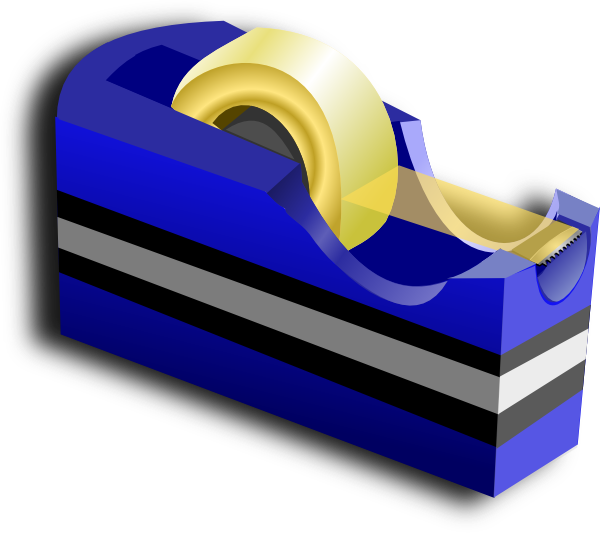blue tape dispenser clip art at clkercom vector clip