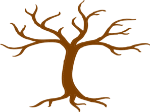 Brown Tree Bare Clip Art