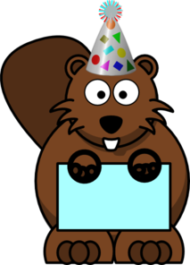 Birthday Beaver Clip Art