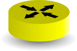 Yellow Router W Shodow Clip Art