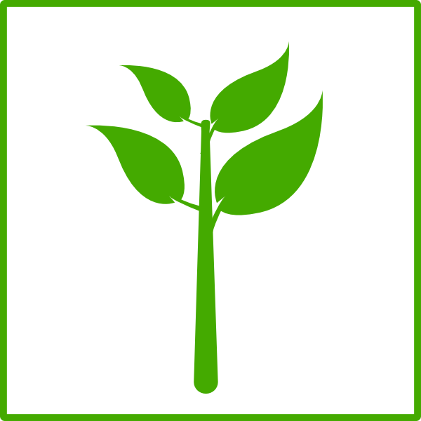 Green Plant Icon Clip Art at Clker.com - vector clip art ...