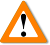 Orange Warning Clip Art