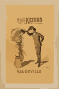 Where Are You Going My Pretty Maid?   I M Going To Keith S Vaudeville, Sir,  She Said Clip Art