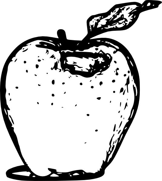 Line Art Of Apple : Apple line art clip at clker vector