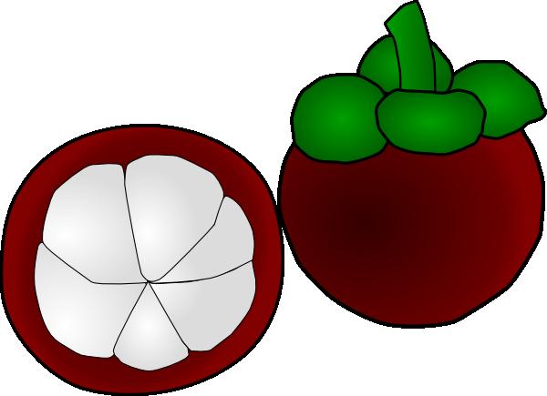 Mangosteen Thai Fruit Clip Art At Clker Com Vector Clip Art Online