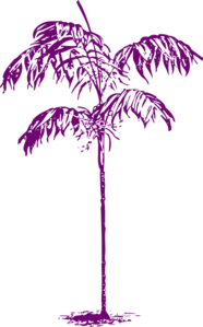 Purple Palm Clip Art