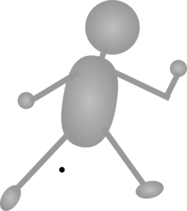 Silver Person. Clip Art