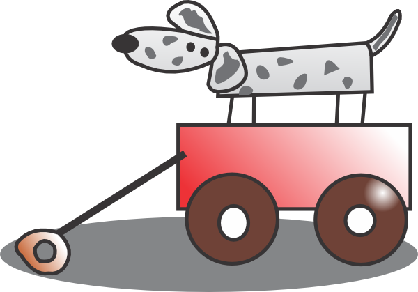 Toy Wagon Clip Art at Clker.com - vector clip art online, royalty free ...