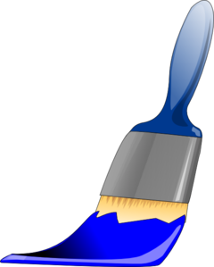 Paintbrush Blue Clip Art