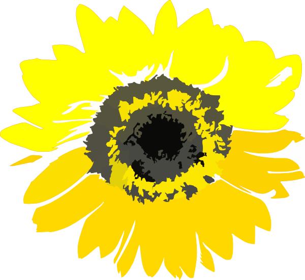 Yellow Sunflower Clip Art at Clker.com - vector clip art ...
