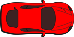 Red Car - Top View - 0 Clip Art