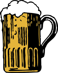 Foaming Beer Pitcher Clip Art