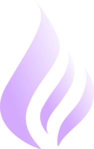 Blue Flame Simple Purple White Clip Art
