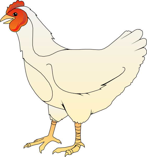 cartoon chicken clip art free - photo #9