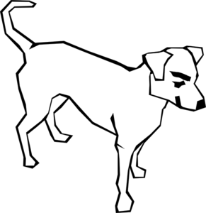 mean white dog clip art at clker com vector clip art online rh clker com  free black and white dog and cat clipart