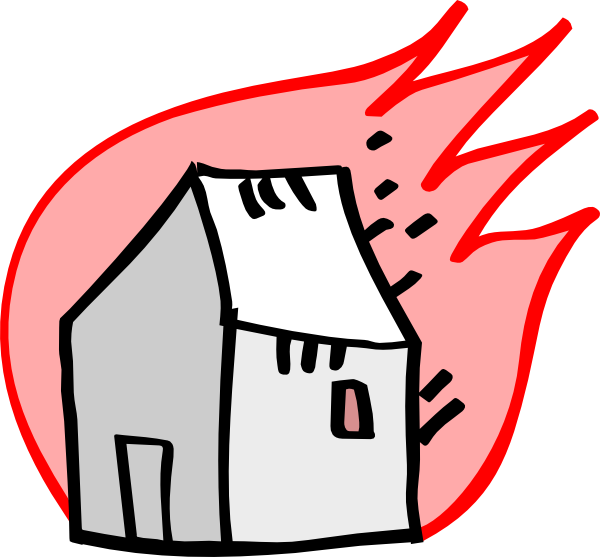 Burning House Clip Art at Clker.com - vector clip art ...