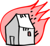 Burning House Clip Art