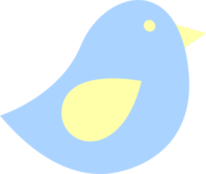 Blue And Yellow Birdie Clip Art