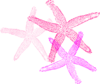 Multiple Pink Starfish Clip Art